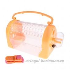 Baoblaze Lit Couchage pour Hamster Hérisson Boîte de Transport pour Petits Animaux Domestiques - Orange - B07BXXD58G
