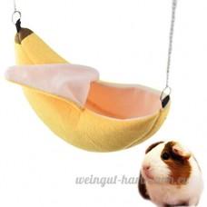 UEETEK Banana Hamster Lit Maison Hamac Petit Animal Chaud Lit Maison Cage Nest Hamster Accessoires - B07BJ4F319