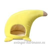 Baoblaze Lit Doux Chaud pour Petits Animaux Hamac de Hamster Forme en Banane - B07BPZGG5K