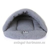 Likecom Nid Pour Animal De Compagnie Chien Chat Chaud Doux Maison De Lit Coussin Sac de Couchage pour 3-6kg Animaux- Gris M - B07BDG4W39