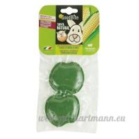 Ferplast Pack de 2 Jouets à Mâcher pour Rongeurs Goodbite Tiny & Natural Pomme - B0081ZY4DU
