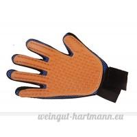 Natthom Doux efficace Brosse animaux de compagnie nettoyage gant épilation brosse massage gant 1 pièce (Orange) - B07D3MVTY2