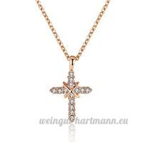 """Vintage Croix pendentif en cristal Collier """"God Love"""" anniversaire Cadeau de Noël - B077DBYK6V"""