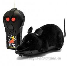 Primi RC Creative Mouse Télécommande sans fil Rat souris jouet pour chat chaton Chien Noir Animal fantaisie Cadeau - B072JJ9VWC
