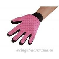 Natthom Doux efficace Brosse animaux de compagnie nettoyage gant épilation brosse massage gant 1 pièce (Pink) - B07D3NXZ2H