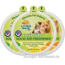 Citrus Magic pour animal domestique absorbant les odeurs solide Désodorisant  Lot de 3  226 8gram chaque - B00DZKHCQ2