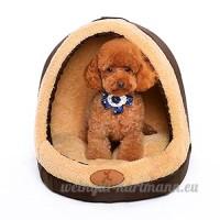 Petit lit pour chien Coussins chauds Suede dog house Avec toit Amovible Villa pour animaux domestiques ( Size : M ) - B0792V5NVT