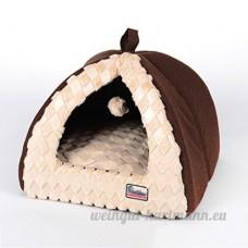 Xi Man Shop lit de chat avec une balle suspendue  Oxford chiffon  avec coussin amovible Doux portable maison de compagnie 40*40*34cm/45*45*38cm (Size : S) - B0792TRSPN