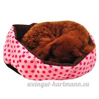 Yiitay Color¨¦ L¨¦opard Impression Pet Chat Chien Lit Tapis Lavable Chaud Cachemire Chenils Doghouse - B078MFM7P9