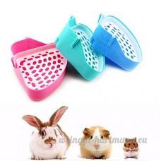 Bureze Animal de petite taille pour animal domestique Hamster WC bacs à litière - B078RVNQ83
