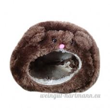 Leisial™ Hut d'hiver Garder au Chaud Maison Hamster en Coton Fournitures pour Animaux de Compagnie pour Petits Animaux Domestiques(Brun) - B07671ZHLD