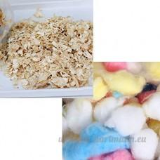 Zhuhaitf pour les petits animaux Hamster Wood Shavings Sawdust & 100pcs Colorful Natural Cotton Ball - B06Y2GQ2BW