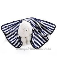 Alcyonée à rayures chaud doux en peluche Chat Chien Pet Couverture pour canapé Coffre de voiture Cage chenil maison pour chien - B075CGKJY2