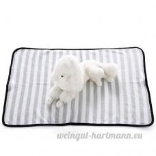 Alcyonée à rayures chaud doux en peluche Chat Chien Pet Couverture pour canapé Coffre de voiture Cage chenil maison pour chien - B075CGKG61