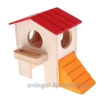 Sharplace Couchage de Hamster en Bois avec Echelle Jeu Dormir pour Hamster Cobaye - Double Couche - B07CZF6T4G