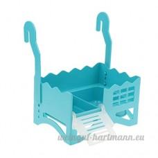 Sharplace Tortue Reptile Plate-forme Parc en Plastique - Bleu - B07DG29NNK