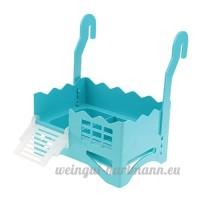 Homyl Plate-forme Rampe Plastique pour Jeu Repos de Tortue - Bleu - B07DFVCVCM