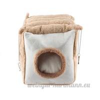 Emours rats Hamster chinchilla Hiver chaud Fluffy à suspendre Cage Hamac Maison Cachette avec tapis de lit  pour petits animaux à fourrure - B07D5QJ9SP