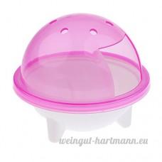 Homyl Salle de Bain pour Hamster Plastique - Rose - B07D3QCZJ1