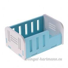Homyl Couchage de Hamster en Bois - Bleu - B07CW2HL2V
