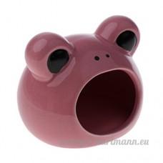 Homyl Cage Maison pour Petit Animaux Couchage de Hamster Cochon d'Inde etc. Motif Ours - Rose - B07CSLXH6N