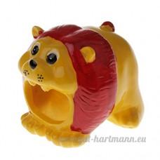 Baoblaze Couchage de Hamster Gerbille Souris Petits Animaux en Résine Motif Animal Nid Froid d'Eté - Petit Lion - B07CCZJ42M