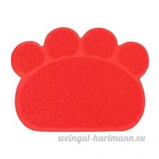 CS Coussin pour animaux de compagnie Chien Chat Litière Mat Frotter Sous-Toilette Pad De Nettoyage Multi-fonction Vert Jaune Rouge Gris Orange ( Color : Red ) - B078XQ9S2R