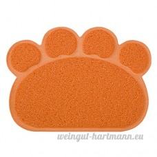 CS Coussin pour animaux de compagnie Chien Chat Litière Mat Frotter Sous-Toilette Pad De Nettoyage Multi-fonction Vert Jaune Rouge Gris Orange (Color : Orange) - B078XQ75D1