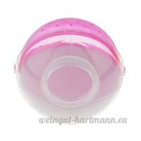 perfk Salle de Bain Toilettes pour Hamster - rose - B077VCQD49