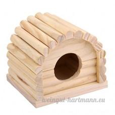 A-goo Hthemetersster Mouse gerbille Maison en bois Jouet trou Dithe. 4centimeterseters - B0776PY1GR