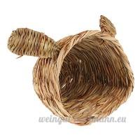 MagiDeal Cage Nid Lit Chaud Dormir pour Hamster en Paille Tissée Lit pour Oiseau Petit Animaux-Motif Lapin - B076M2JYLP
