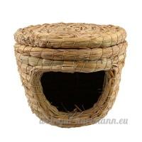 Sharplace Nid de Hamster Oiseau Paillage Cage pour Couchage de Petit Animaux Maison - S - B074Z3HGDX