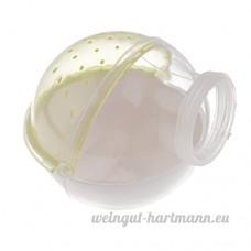 Baoblaze Cage Salle de Bain pour Hamster Petit Animal en Plastique Transparent - Jaune - B074DQ724J