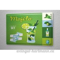 Plaque émaillée Affiche Affiches Mojito Cuisine - B06XNK77ZK