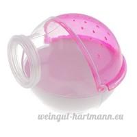 Baoblaze Cage Salle de Bain pour Hamster Petit Animal en Plastique Transparent - rose - B074DQ2N77