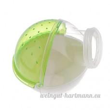 Baoblaze Cage Salle de Bain pour Hamster Petit Animal en Plastique Transparent - vert - B074DPM9WY