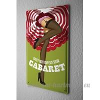 Plaque émaillée Amusant Cabaret - B06XKP7VGC