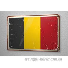 Plaque émaillée Globetrotter Belgique - B06XKFRSYY
