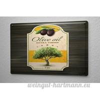 Plaque émaillée La Restauration Huile d'olive extra vierge - B06XKCQTZ1