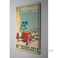 Plaque émaillée Vintage Car Monaco - B06X9KTRJT