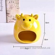 Hypeety Petit Animal Cachette en céramique Maison de bain Critter Maison Grotte Mini Cabane Cage pour chinchilla Hamster - B07D348WXB
