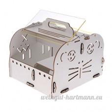 Sharplace Couchage de Hamster en Bois Jouet Jeu Dormir pour Hamster Cobaye Cochon d'Inde Portable - Type 2 - B07CVP7YCX