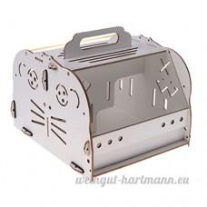 D DOLITY Couchage de Hamster Jouet en Bois Lit Cage de Petit Animaux Portable - Type 2 - B07CVM6QTV