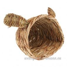 Homyl Tapis Paille Lit Couchage de Hamster Lapin Cobaye 27x23x20cm Motif Lapin - B07B4RCW5J