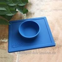 CS Bol et bol de chien de chat de lit de cuvette d'animal familier pour empêcher le glissement contre le tapis de glissement de gel de silice (Color : Blue) - B078XPQWJN