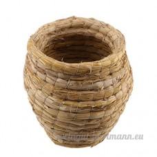 Baoblaze Cage d'Oiseaux Hamster Hérisson en Paille pour Couchage d'Animaux de Compagnie 195x140mm - B074ZPB51M