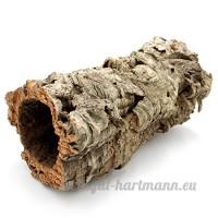 Belle  longue tube en liège pour lapins  lapins  cochons d'Inde  chinchilla Hamster et repilien. Superbe niche Grotte pour rongeurs en écorce de liège - B071RG75SP