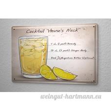 Plaque émaillée alcool Retro Encolure du cheval Bar Pub Restaurant - B06XKYRVW3