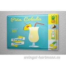 Plaque émaillée alcool Retro Pina colada Bar Pub Restaurant - B06XKWMYKY