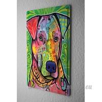 Plaque émaillée Dog chien coloré - B06X9BK5LZ